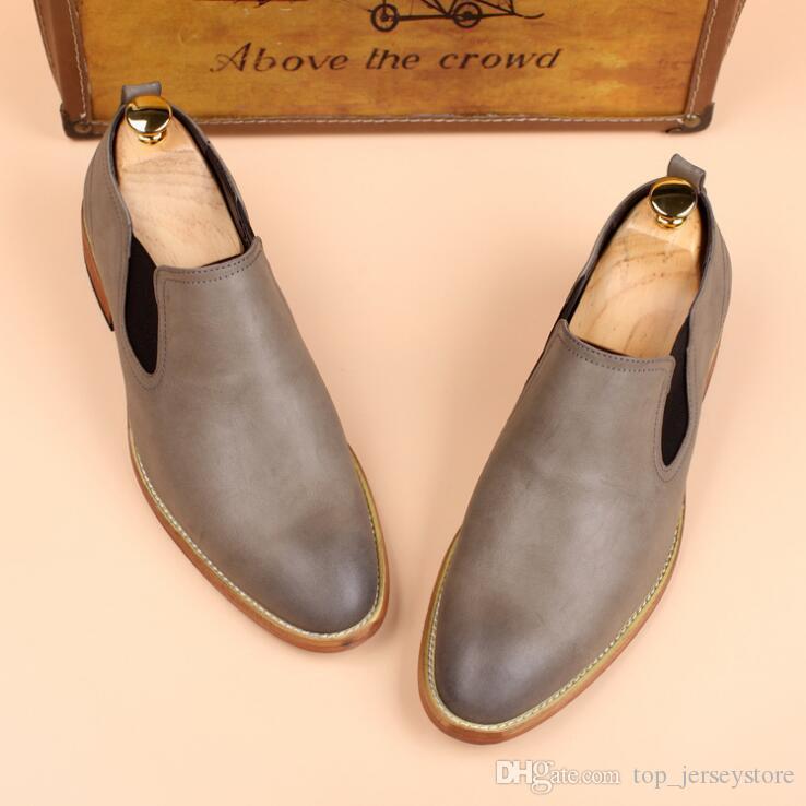 2019 Casual Pu Flats cuir Mode Mocassins plus Mocassins Hommes pour hommes confortables chaussures Lazy affaires Slip On Chaussures Hommes