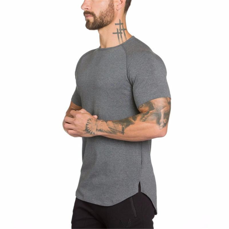 2019 Magliette uomo in cotone Maglietta vintage Hip Hop Uomo Moda Streetwears Activewears Nuova maglietta con palangari Fitness