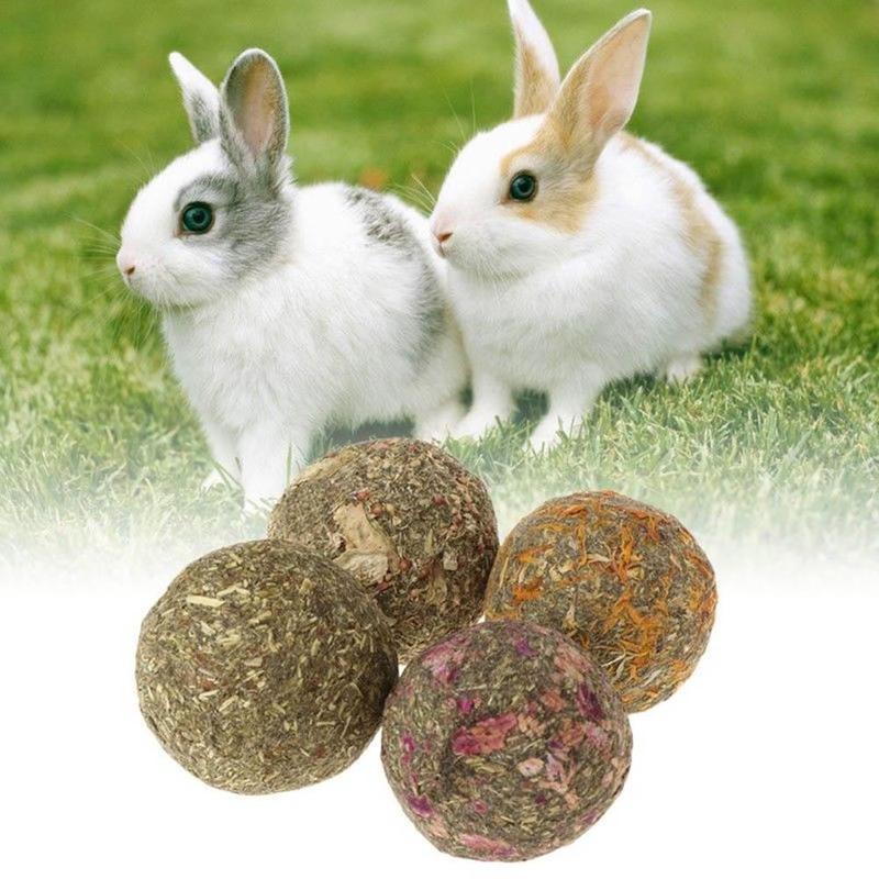 애완 동물 토끼 츄 잔디 볼 햄스터는 이빨이 기니 돼지 츄 공급 잔디 돼지 토끼 친칠라를위한 장난감을 재생 연마 씹어 서