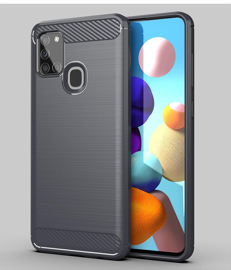 Текстура углеродного волокна Тонкий Доспехи Матовый ТПУ Чехол Чехол для Samsung Galaxy S30 + S30 Ultra A12 5G A71 5G UW 1000 шт. / Лот CREXPRES
