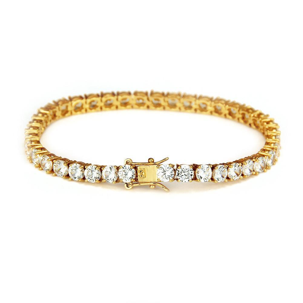 Braccialetto a catena da tennis con braccialetti a forma di braccialetto di zirconi a forma di luppolo con cinturino alla caviglia Braccialetti da donna con catena a maglia a 1 riga CZ Catena di gioielli in oro argento nero