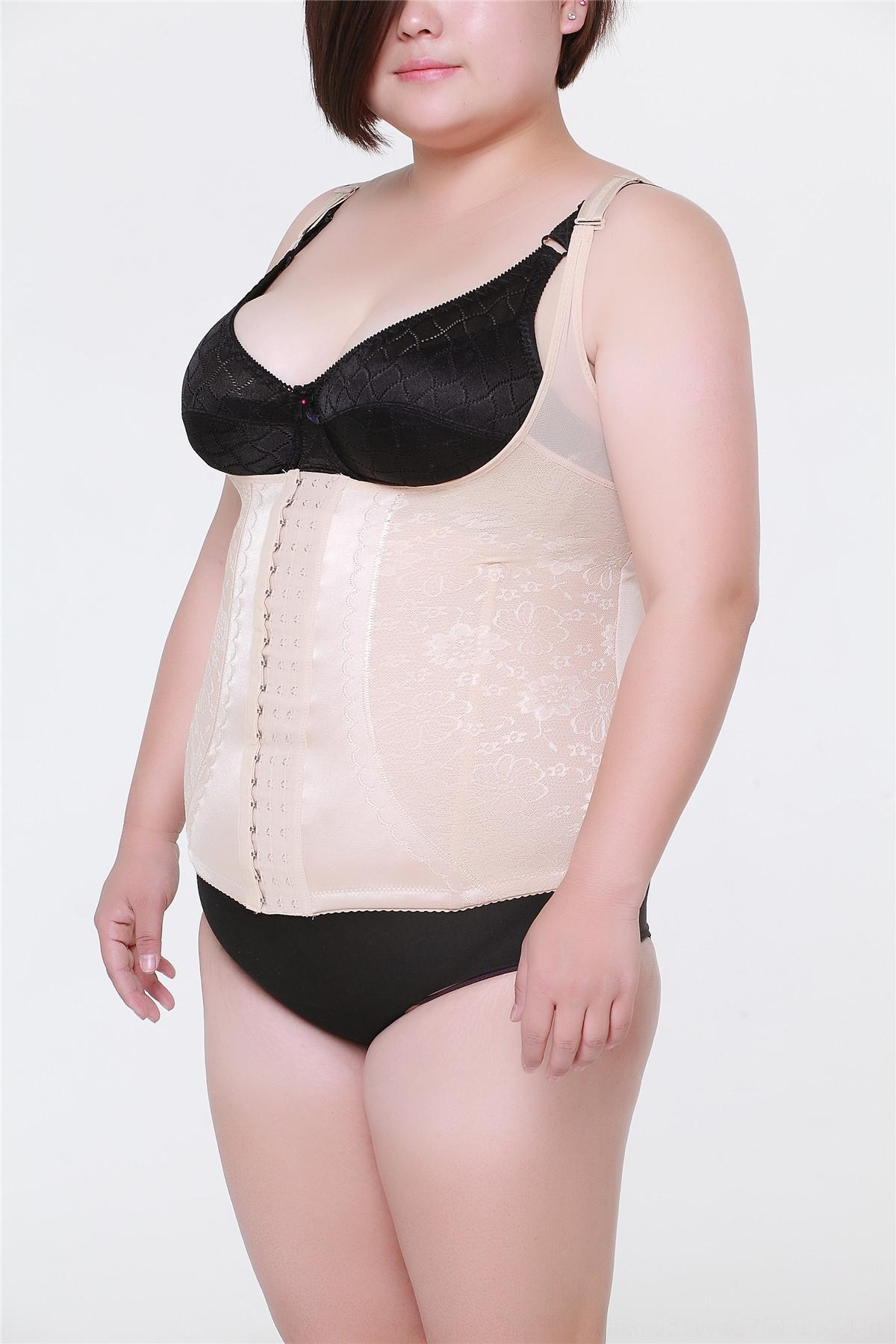 Women's large size plus fat body-shaping suit corset women's underwear summer tights Underwear tights breathable chest support 7
