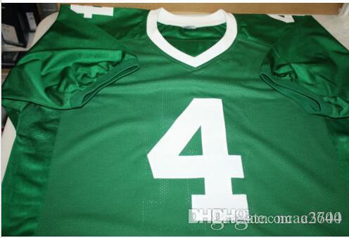 benutzerdefinierte Männer Michigan State Spartans Plaxico Burress # 4 Genähte grün Voll Stickerei Jersey Größe S-4XL oder benutzerdefinierten beliebigen Namen oder Nummer Jersey