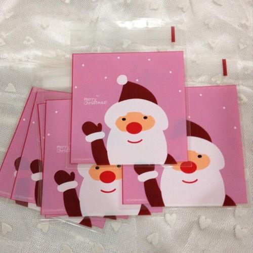 Дешевые 10шт/set или 20пк/лот подарочные пакеты рождественские печенья Печенье мешок pastic упаковывать подарка венчания держатели Санта украшения