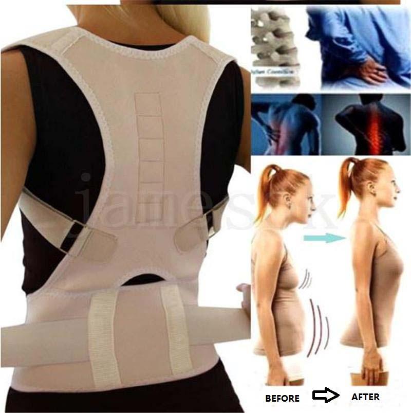 Wholsale Posture Corrector Magnetic ombro Terapia Brace Voltar Suporte de cinto para Homens Mulheres Suspensórios Suporta Shoulder Belt Postura DA216