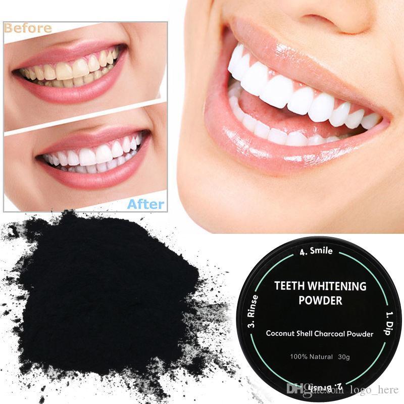 Poudre de blanchiment des dents Nature Bamboo Charbon de bois activé Sourire Poudre Décontamination Dent Jaune Tache Bamboo Dentifrice Oral Care R0086