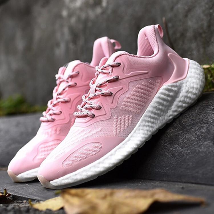 nouvelles femmes de style chaussures de sport tissage rose à lacets