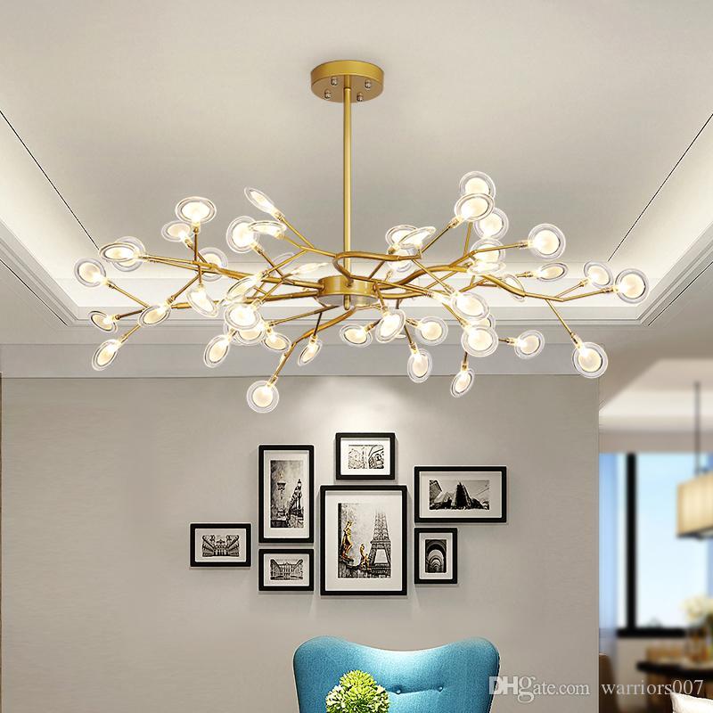Moderne Glühwürmchen-LED Kronleuchter Licht stilvolle Baumast Kronleuchter Lampe dekorativ Glühwürmchen Decke chandelies hängende Beleuchtung