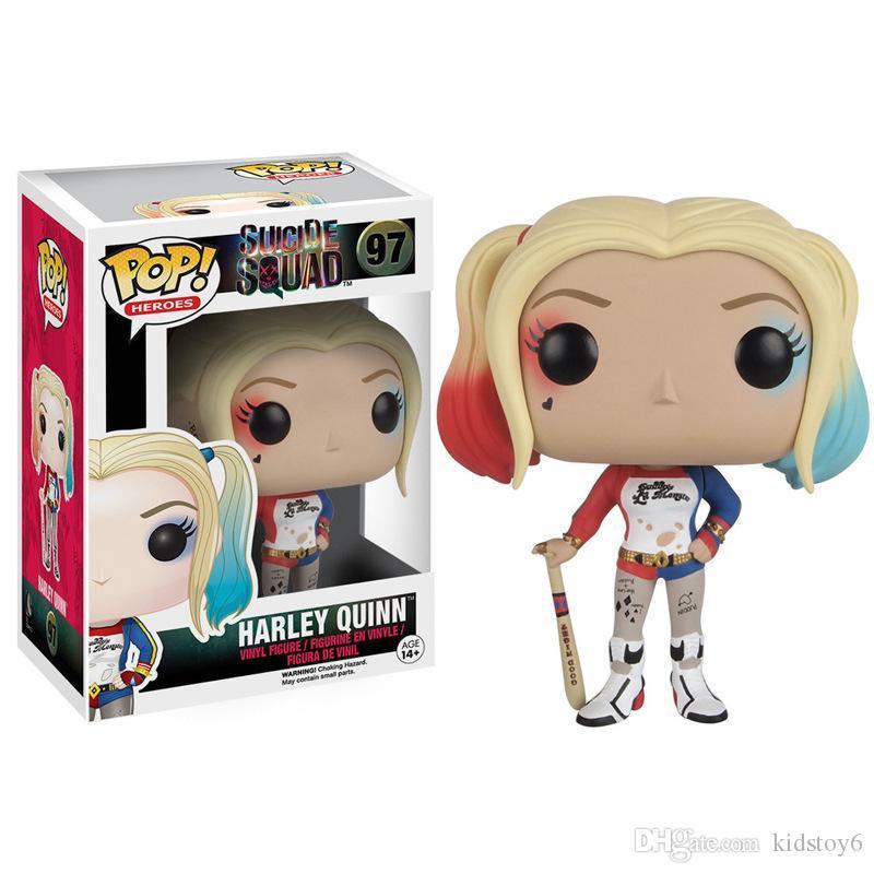 Acheter Jouets Enfants 2019 Arrivée Funko Pop Suicide Squad Joker Harley Quinn Deadshot Modèle Figure Collection Modèle Jouet Cadeaux Pour Enfants De