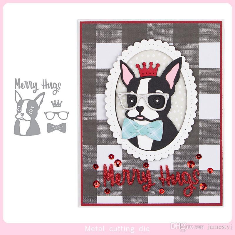 Corte morre de cão por artesanais Cartões Stencil scrapbooking e de papel Artesanato pasta Embossing máquinas de artesanato de papel DIY