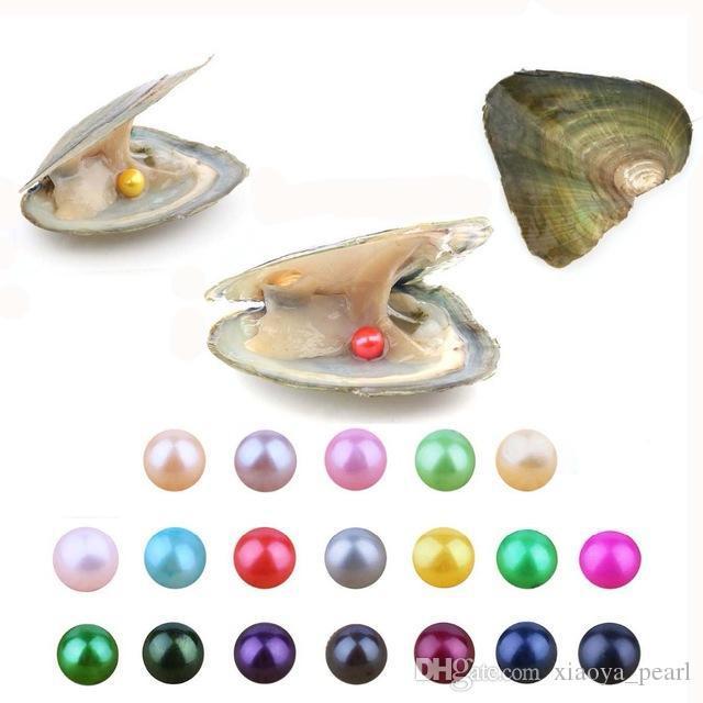 Renk Aşk İstek İnci Tatlısu istiridye 2020 Akoya DIY 6-7mm Yuvarlak İnci Çeşitliliği İyi Bireysel Paketi Moda Hediye Sürpriz Vakum