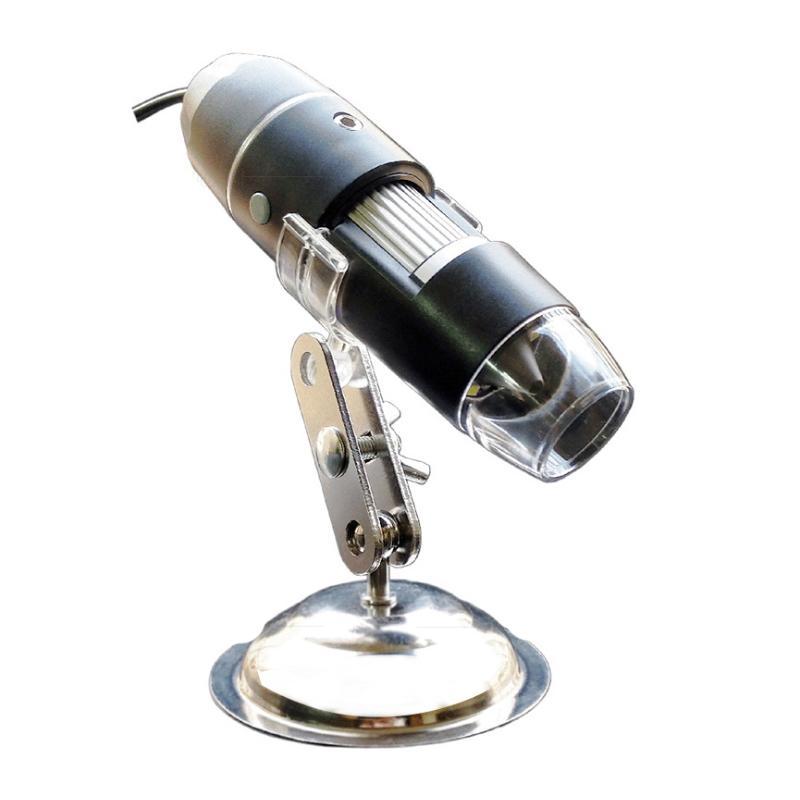 USB Digital Microscope 1600 x Magnification 8-LED Mini Microscope Camera Magnifier
