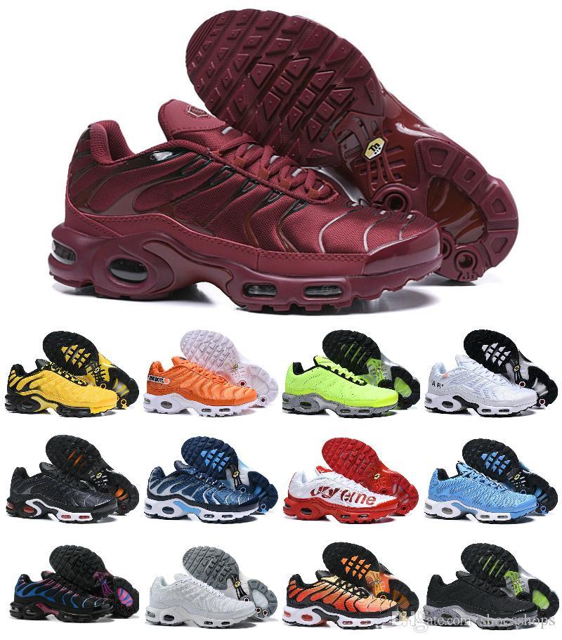 Скидка 2020 т воздуха башмак Дешевые оригинальные мужские Tn Спортивная обувь Air Tn Plus Chaussures Requin Модельер дышащая сетка Повседневный Sneaker