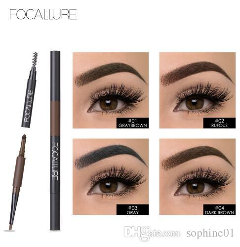 Waterproof Eyebrow Pencil 3 in 1 Auto Brow Pen Shades Brush Powder Tint No Tone Make up Eye Buy 1 Get 1 Mascara