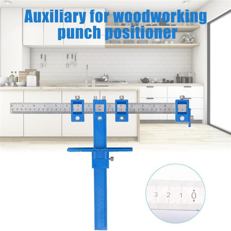 2020 Furniture Adjustable Drilling Dowelling Hole Saw Locator Woodworking Joinery Hand Tool Multi-function Drill Punch Locator