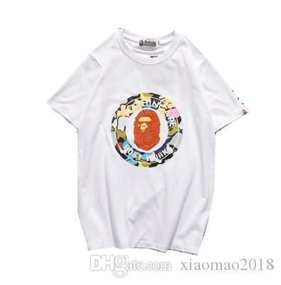 la moda 19SS un baño AAPE hombre mono diseñador de camisetas se imprimen mono de dibujos animados de algodón camiseta mujeres de los hombres del deporte camisetas dolce