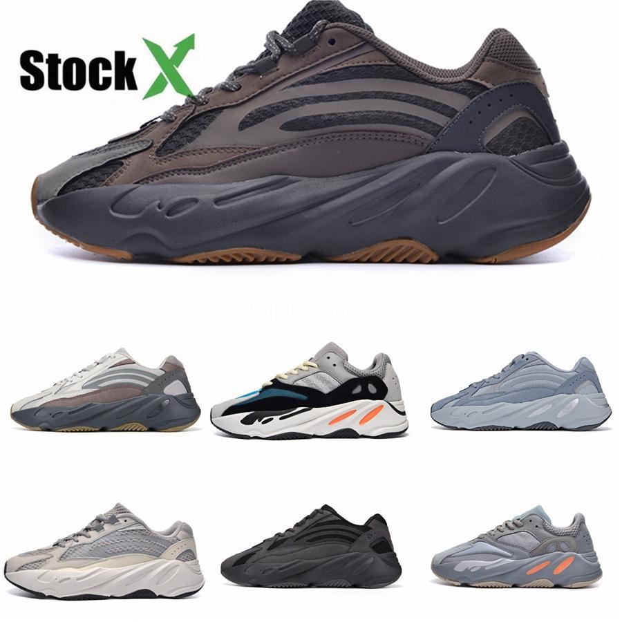 Ímã 700 do corredor da onda Kanye West Running Shoes Vanta estática analógico preto reflexivo das mulheres dos homens Designer Sneakers Sports Trainers 36- # QA283