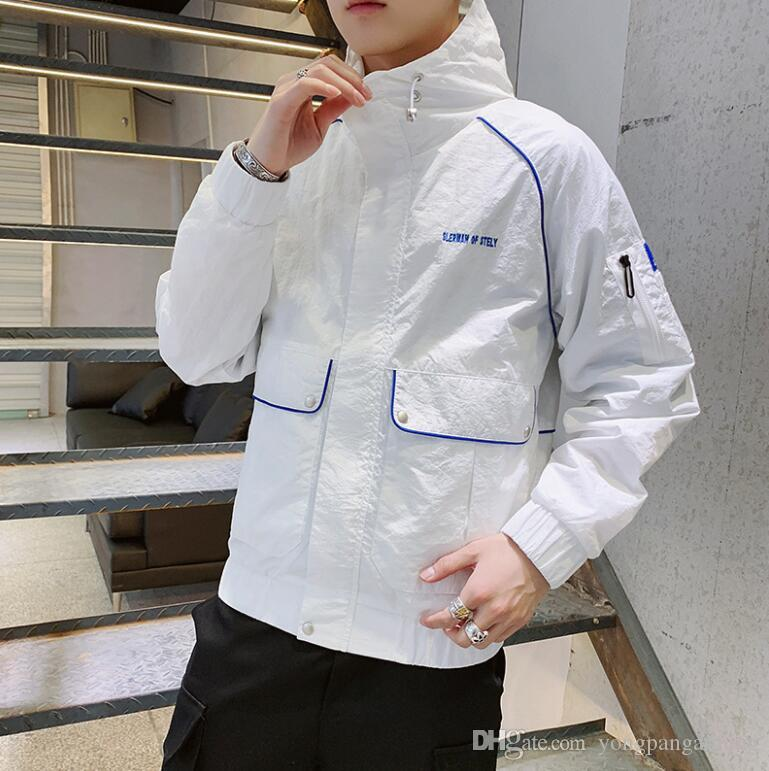 Men's jacket autumn and winter 2019 new Korean version of the trend of wild students spring and autumn casual tide brand tooling jacket men