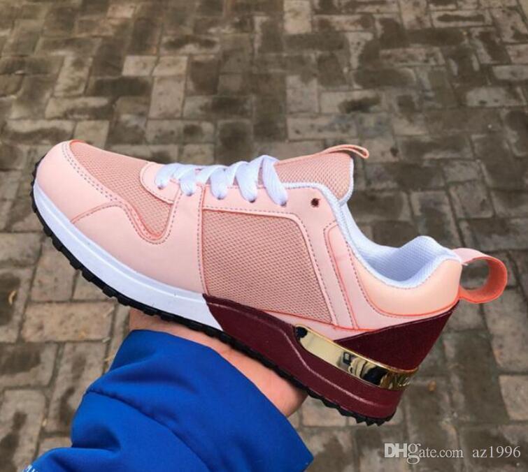 Высокое качество Дизайнерская Обувь Марка Мужчины Женщины Low Cut Случайные Run Away Обувь Франция Марка Мужчины Женщины Кроссовки Мокасины 36-44