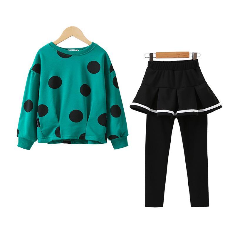 Pot Abbigliamento neonate top + skirt 2 insiemi dei pc 2020 di nuovo modo che coprono il bambino vestiti di autunno ragazze di inverno 2 6 12