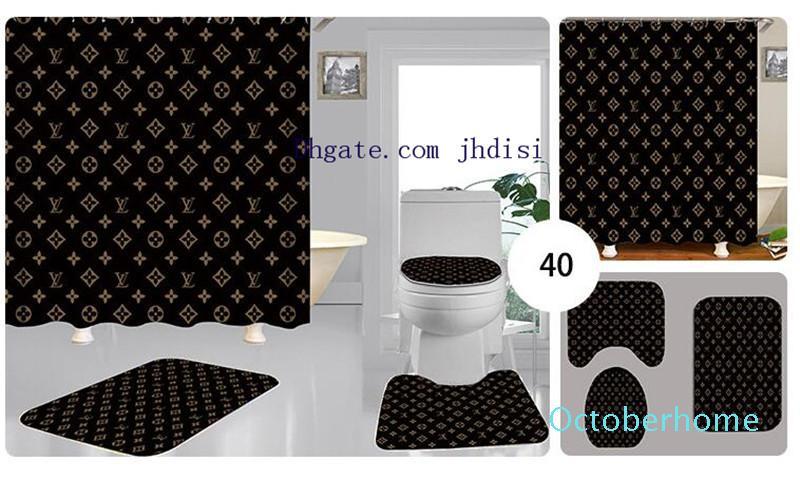 Bagno in camera Hang Ombra uomini e donne tende da doccia Partizione cortina di pensili Stampa Lettera Carpet 3 Pezzi Nuovo trasporto di stile