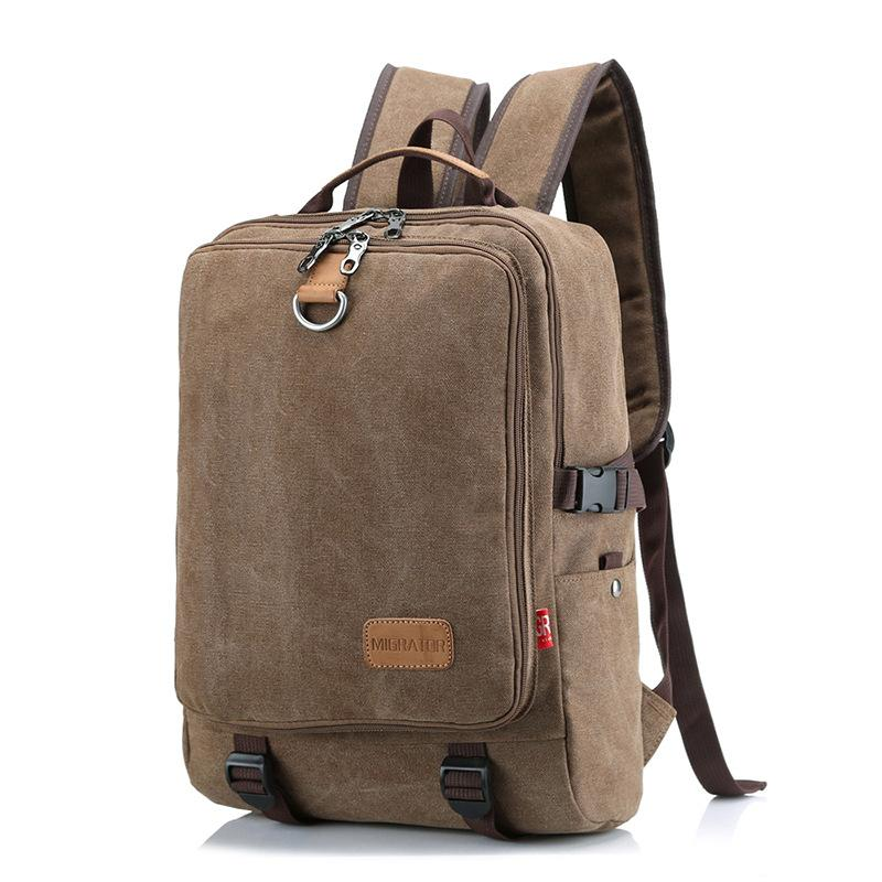 Cross-border foreign trade vintage rucksack bag Ms. outdoor travel large-capacity backpack male student computer bag