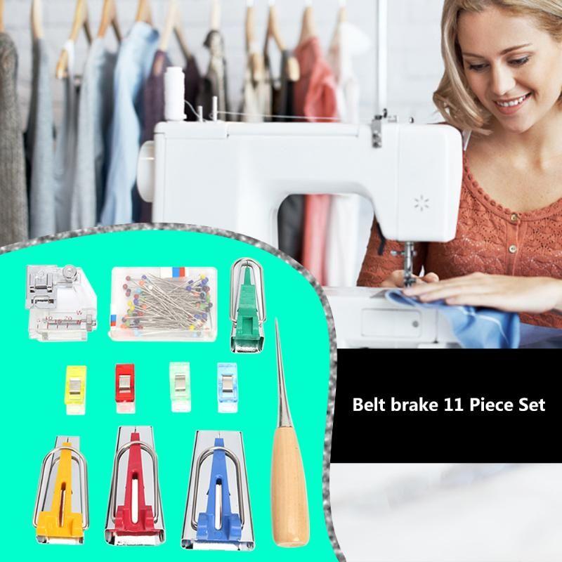 Nähmaschine Werkzeuge Bindung Nähen Multifunktions- Nähen Schrägband Maker Set DIY Patchwork Quilting-Tool