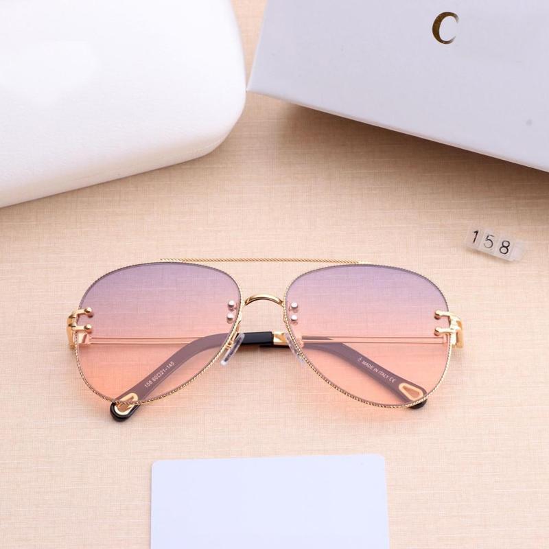 Police Sonnenbrille Frauen-Marken-Designer-Sonnenbrillen Gradient Shades freie Objektiv-Damen-Metall Spitze-Rahmen-Augen-Glas Uv400 6Colors LJCEo
