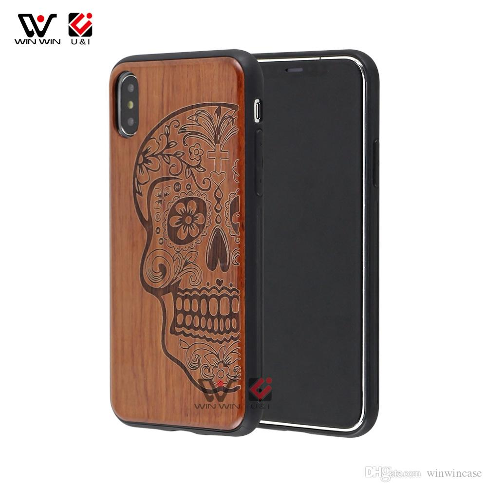 Стиль Sichuang High-End Rosewood + TPU Frame Full Protection Case для iPhone 6 7 8 Plus X XS MAX