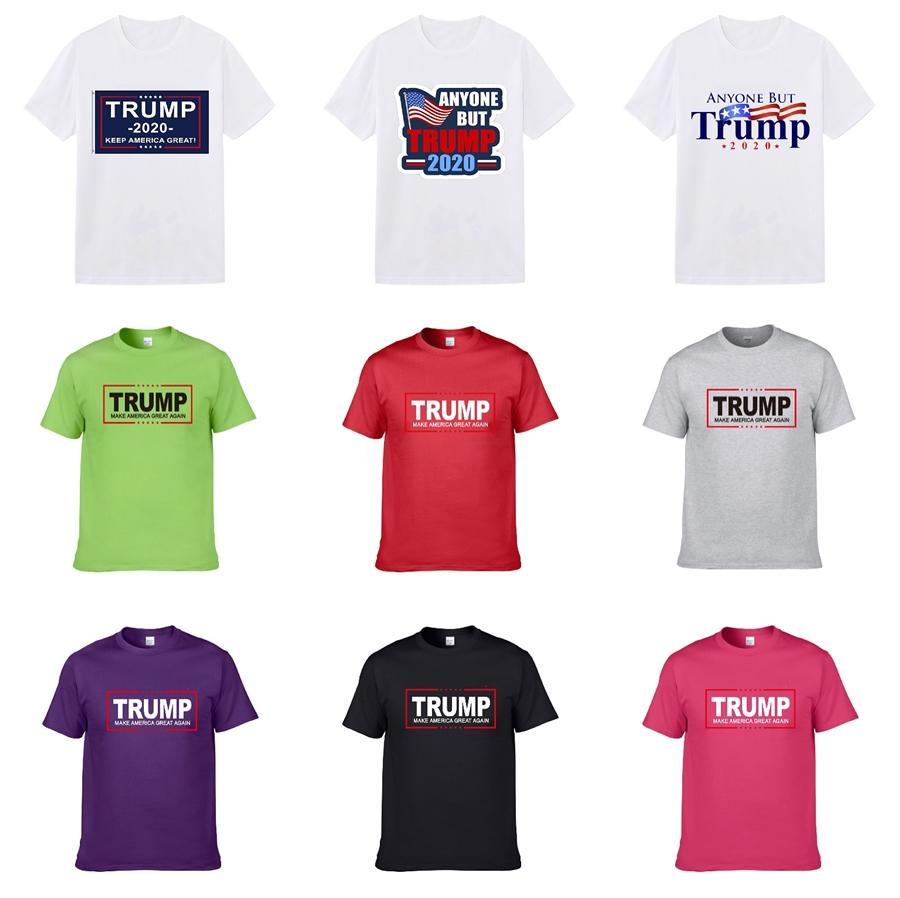 Mens Trump T-shirts 2020 printemps été nouvelle marque Designers imprimés manches courtes Mode Hauts yeux Vêtements décontractés en plein air 9 Couleurs T4 # 925
