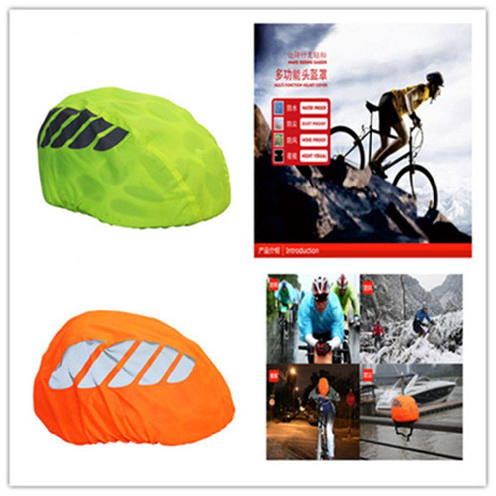Materiale del rivestimento riflettente Notte visiva impermeabile della bicicletta del casco di copertura