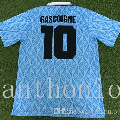 RETRO 1989 1990 LAZIO 1991 1992 GASCOIGNE 10 classic VINTAGE Thailand Quality soccer jerseys uniforms Football Jerseys shirt camiseta futbol