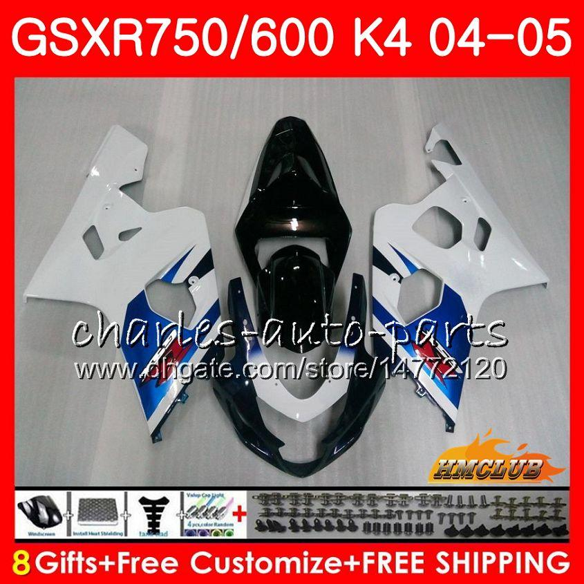 Kit para Suzuki GSX R600 R750 GSXR600 GSX-R750 Stock Blue Hot GSXR 600 750 04 05 7HC.86 GSXR-750 GSXR750 K4 GSXR-600 04 05 2004 2005