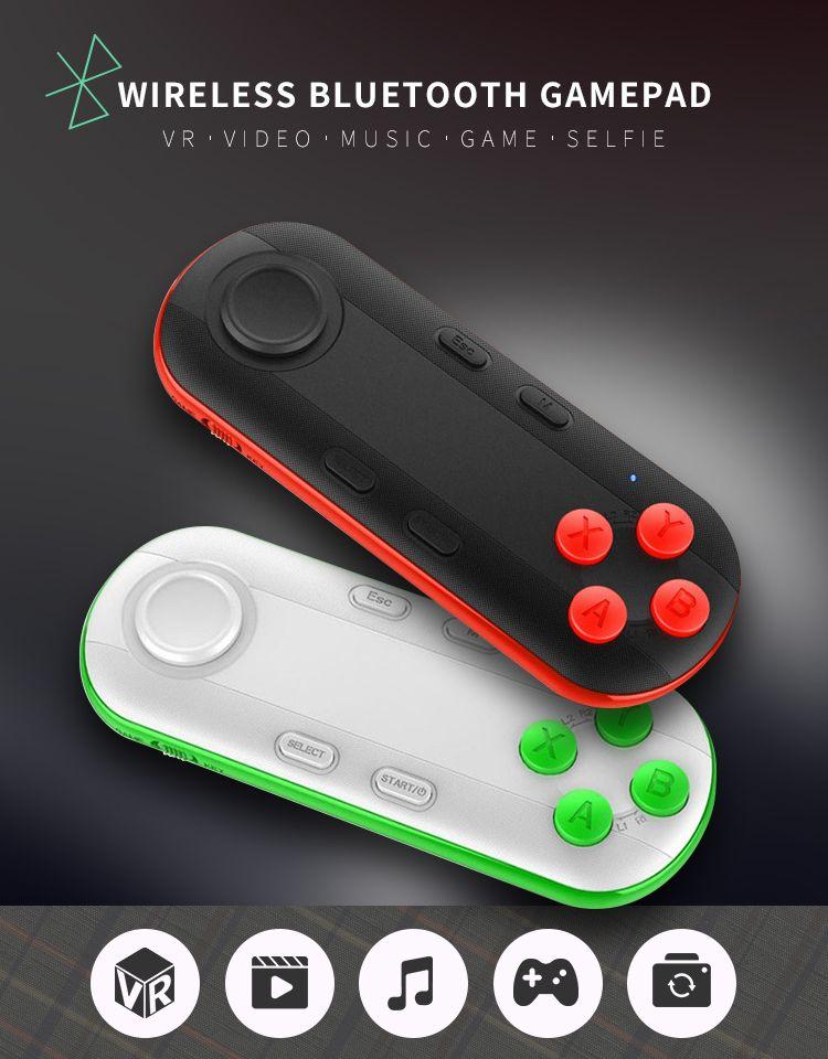 Sem fio Bluetooth Gamepad VR Remoto Mini Bluetooth Game Controller Joystick para iPhone IOS Xiaomi Android Gamepad para PC VR Box
