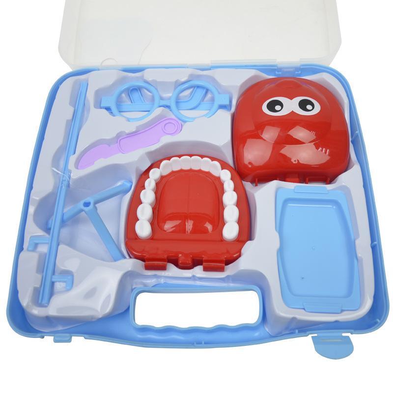 Modelo Crianças Doutor Nutrição Oral Pouco dentista Set Echometer Doctor Set Suitcase Brincadeiras Supplies Casa Brinquedos Pet