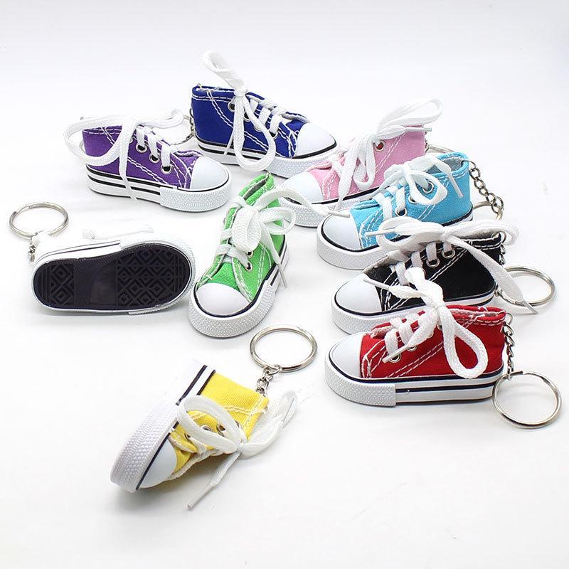 Scarpe creativo di tela del sacchetto di Keychain del pendente di colore del pendente di chiave Sneakers piccoli regali personalizzati all'ingrosso