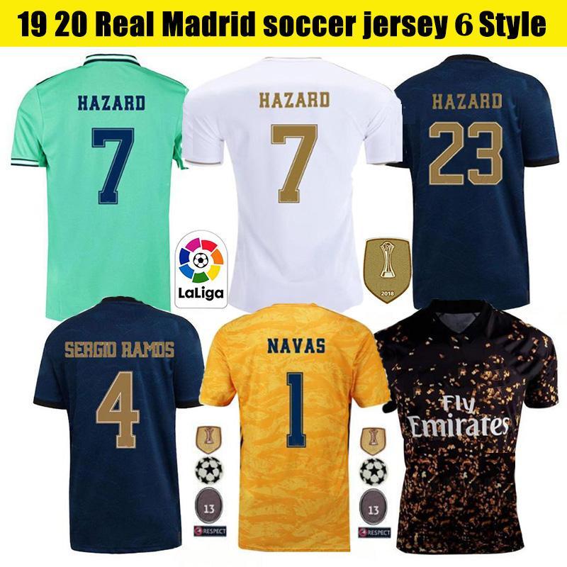 2019 20 Real Madrid Soccer Jersey RISQUE JOVIC MENDY RODRYGO REAL MADRID maison loin de Fútbol shirt Chemisette hommes + kids kit d'uniformes de football