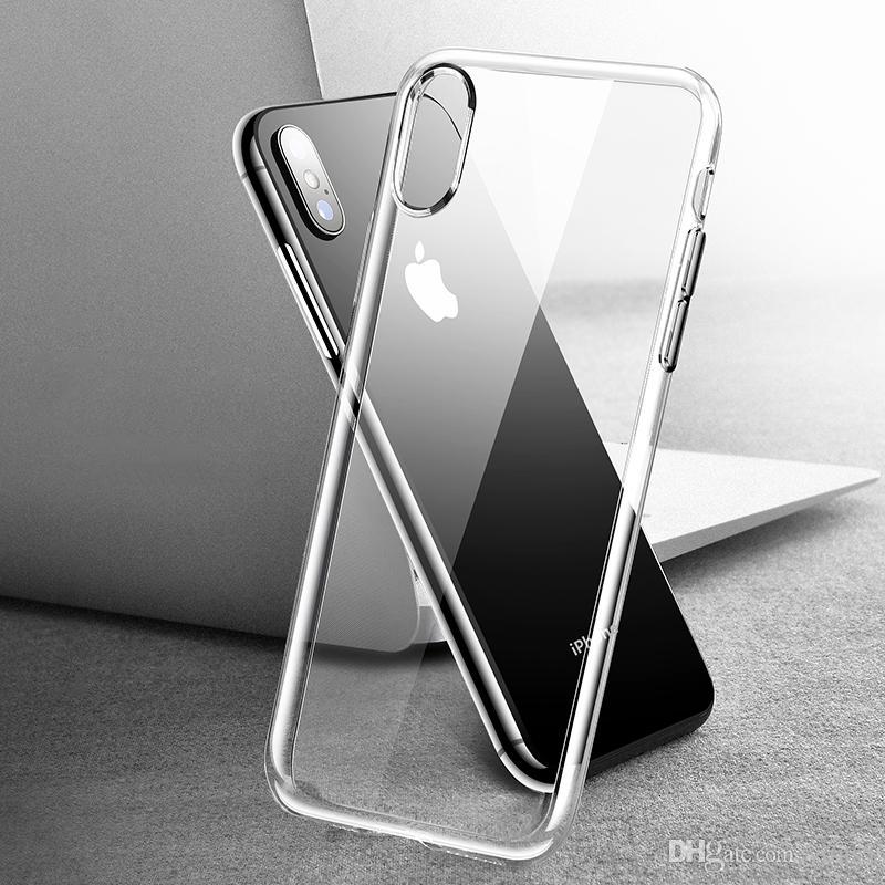 Caja del teléfono del silicón para el iPhone XS Funda transparente suave ultra delgada de TPU para el iPhone 6/6 más