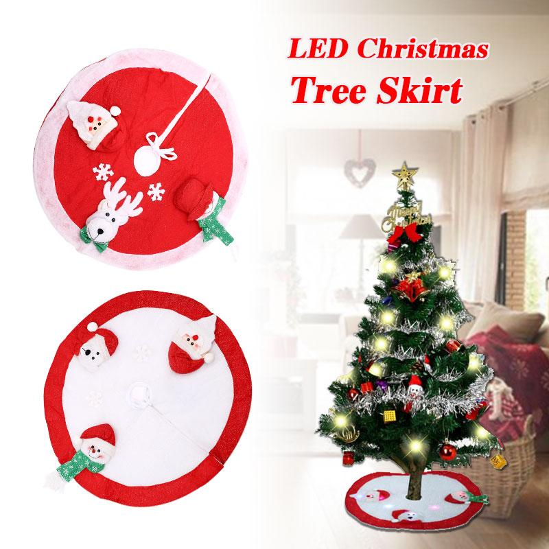 Santa Claus Christmas Tree LED LIght Skirt Stands Ornaments Xmas Party Decoration Christmas Home Decoration tree
