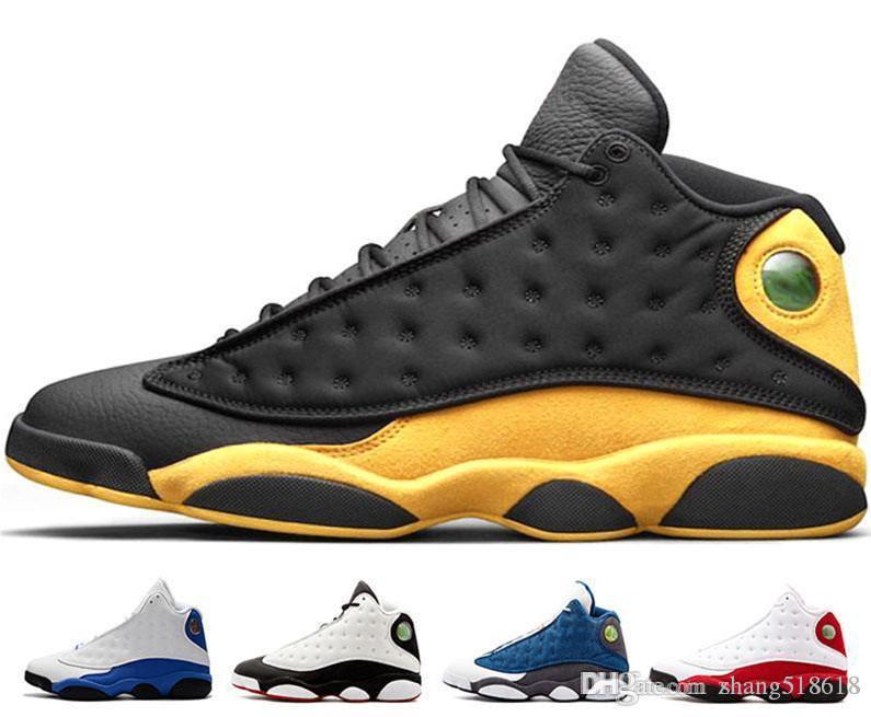2019With Box 13 Melo Volver fantasma Una mala jugada HYPER REAL oliva Burdeos Chicago criado zapatos de baloncesto zapatos de trigo 13s hombres de los deportes AtUS7-US13
