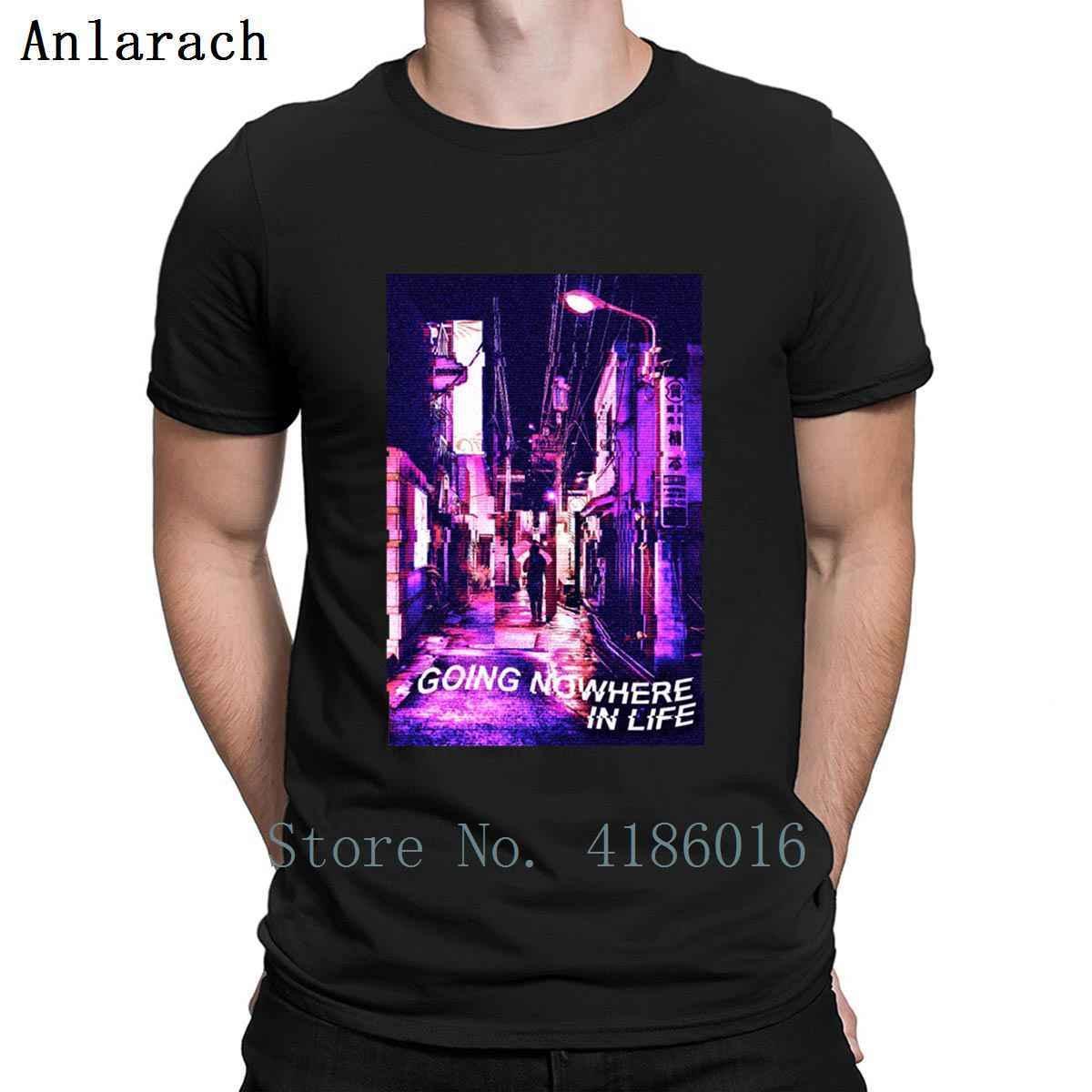 90. triste deprimido yendo en ninguna parte en la vida vaporwave camiseta Familia del resorte cómico más el tamaño 5XL traje de la camisa de algodón Impreso