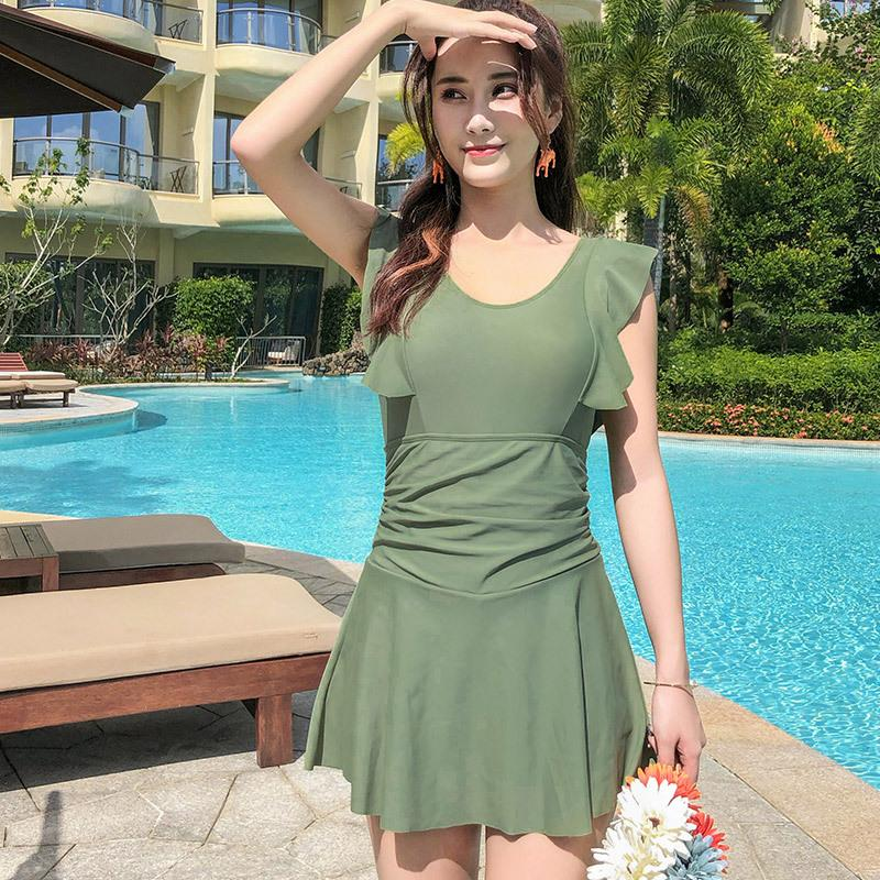 Wholesale of new adult swimwear with steel skirt, flat angle and light-proof ladies'swimwear manufacturer