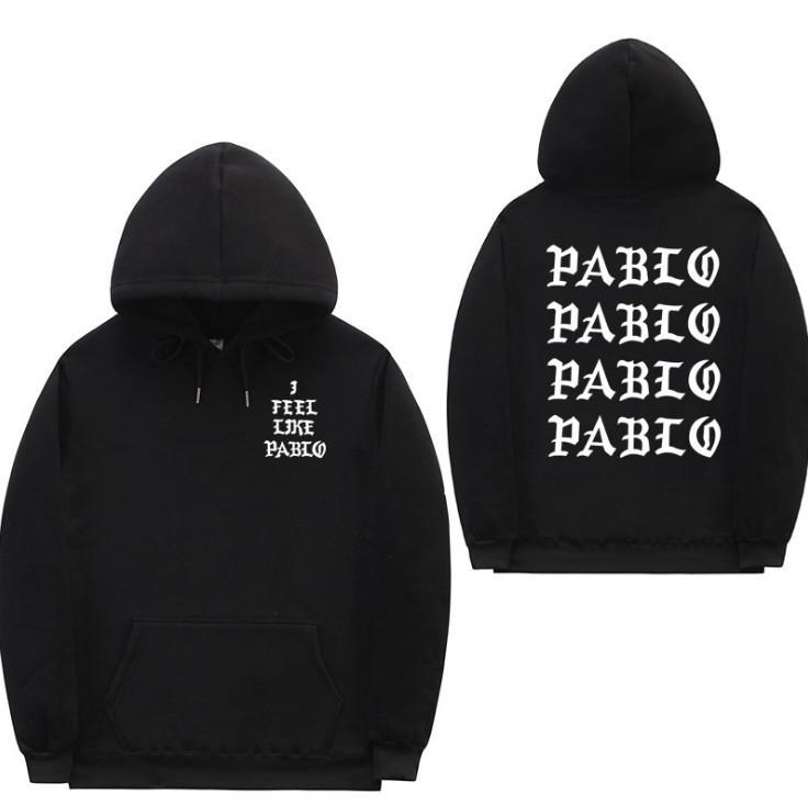 Eu me sinto como Pablo Streetwear Hoodie capuz Carta Imprimir Hoodie Clube Hip Hop Hoodies Homens 5 cores