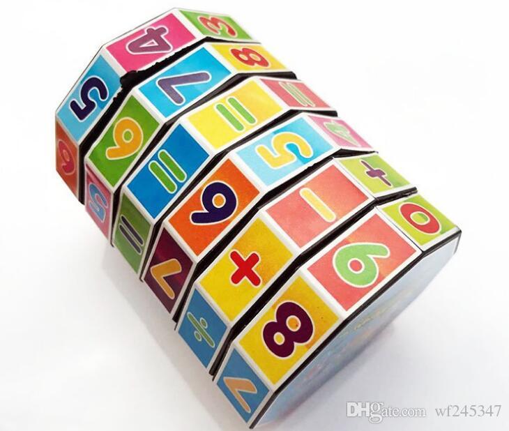 Cylindrique Magic Cube en plastique enfants Puzzle Toy jouets de décompression cylindrique Cube Géothermique Livraison gratuite en gros