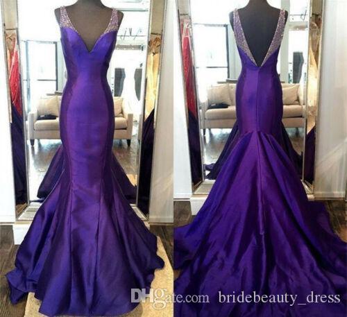 2020 sirena elegante vestido de noche largo cuello en V de partido de coctel formal vestidos de baile del traje de soirée