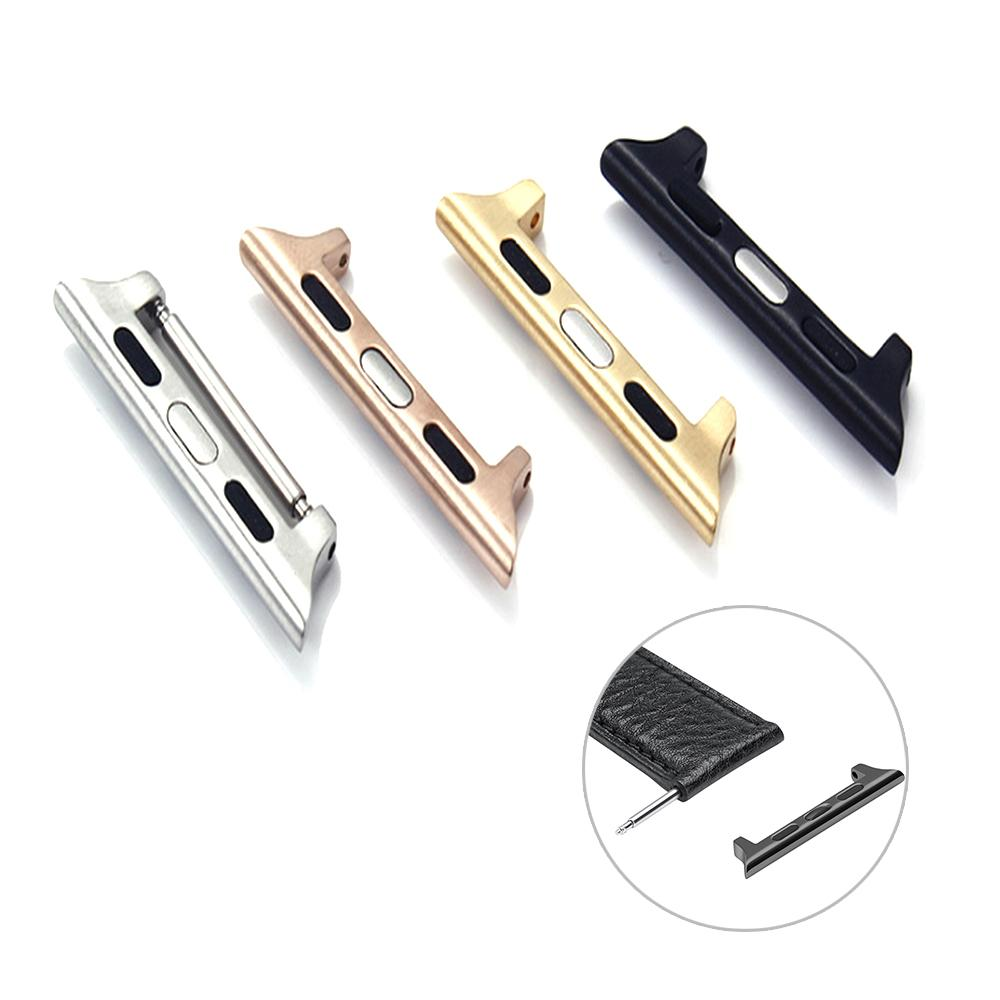 10pcs adaptador de bricolaje para Apple venda de reloj del conector de 38 mm de reemplazo 42mm banda de acero inoxidable 1: 1 para la serie 1 2 3 adaptador de correa 5 pares