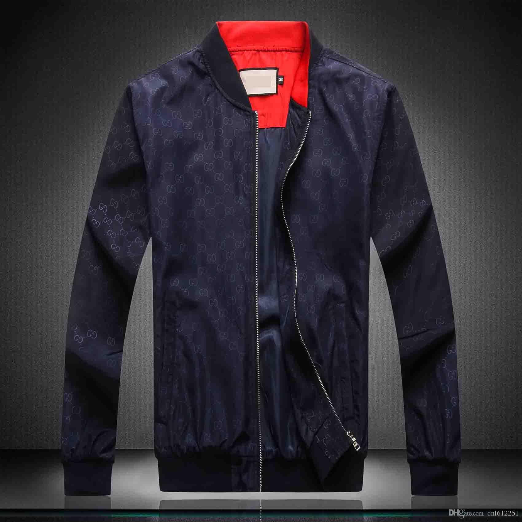 Yeni Moda Marka Ceket Erkekler Kış Sonbahar Slim Fit Erkek Tasarımcı Giyim Kırmızı Erkekler Rasgele Ceket İnce Artı