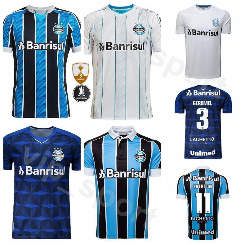 2020 2021 11 Gremio fútbol brasileño EVERTON Jersey Hombres 90 ANDRE 2 MOURA 4 KANNEMANN 21 Kits camisa PYERRE 7 LUAN Fútbol Uniforme