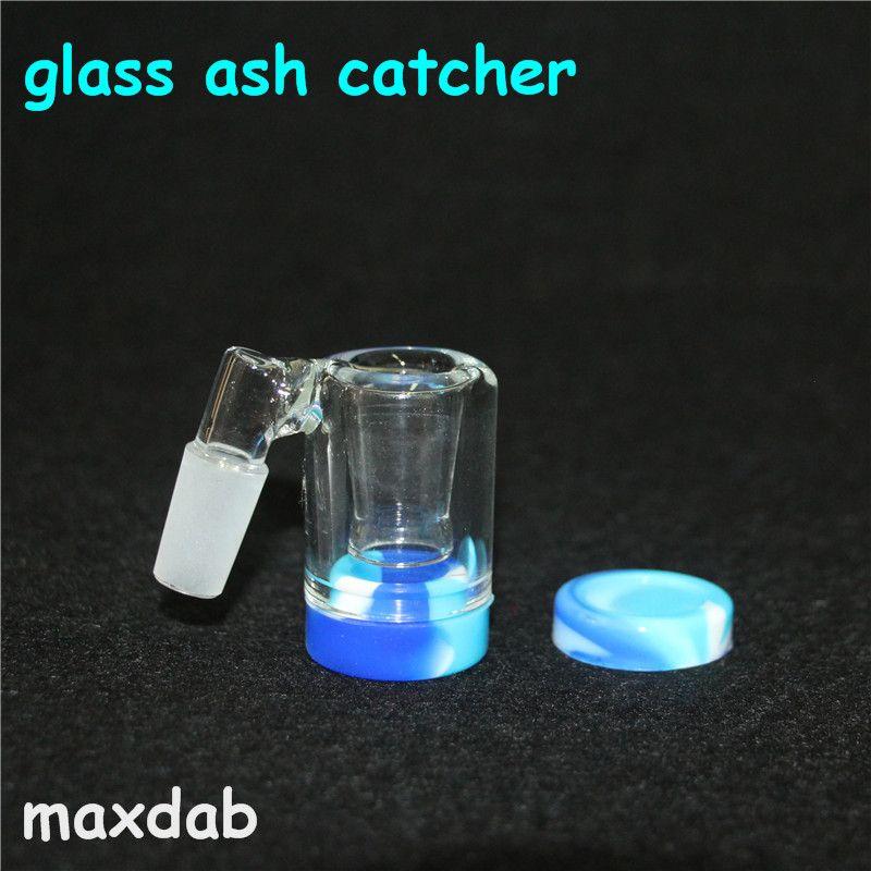 Glass Reclaim Catcher handmake catcaher in frassino e contenitori in cera siliconica da 5 ml per bong in vetro dab rig