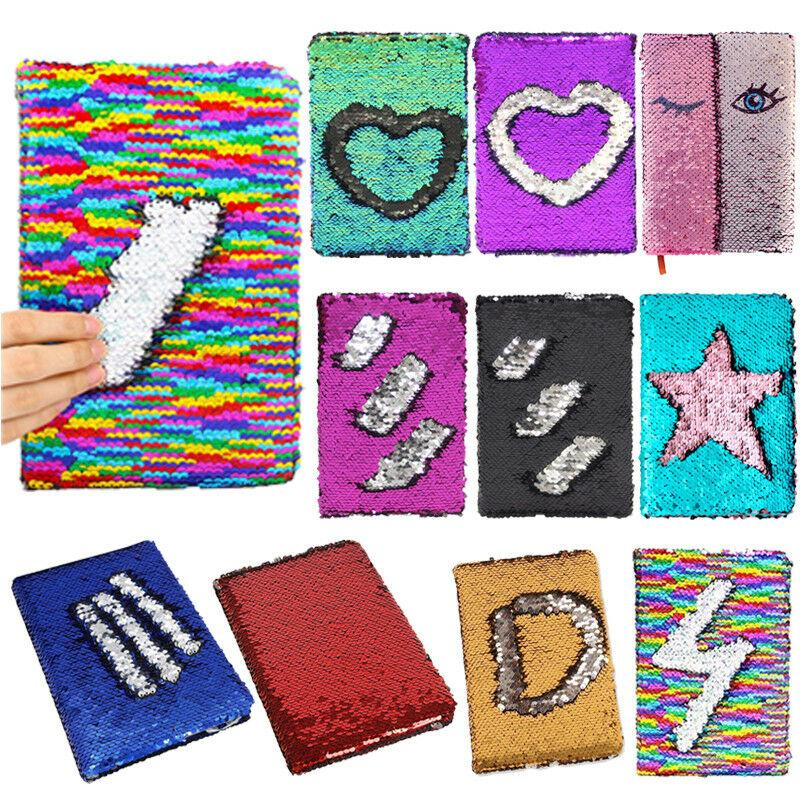 Reversible Sequin Journal Diary Magic A6 Note book Writing Book for Kids US